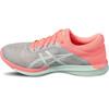 asics Fuzex Rush Shoes Woman midgrey/bay/flash coral
